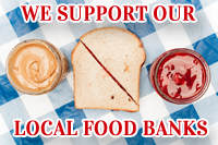 We Support Our Local Food Banks